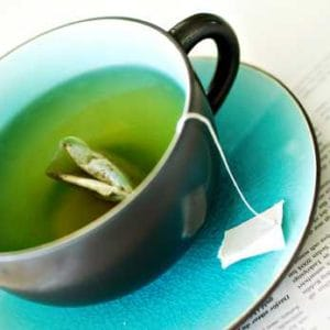 Green Tea helps to bind iron to prevent its absorption!