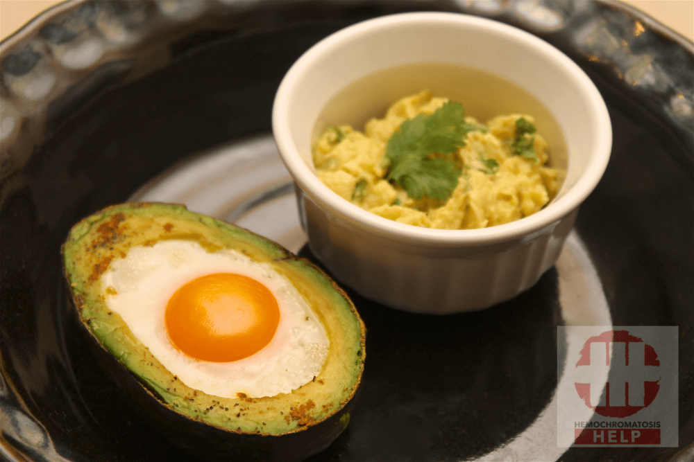 Hemochromatosis Breakfast Recipe: Baked Egg in Avocado