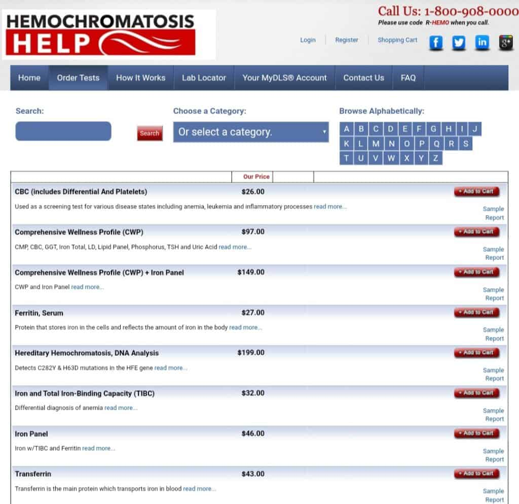 DirectLabs Order Page Sample